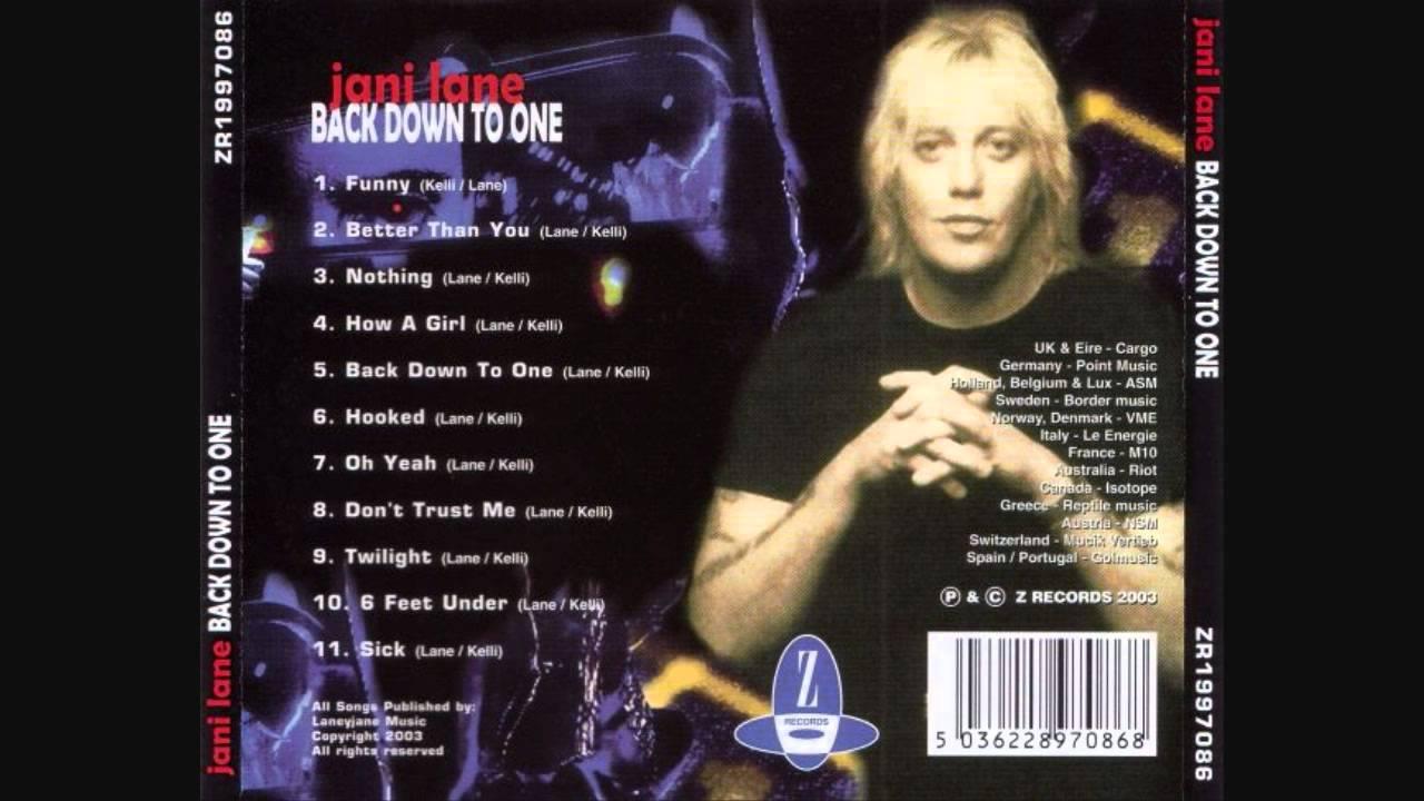 Jani Lane - Back Down To One