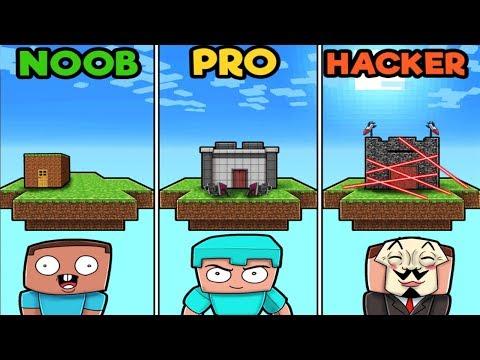 minecraft---secure-floating-base!-(noob-vs-pro-vs-hacker)