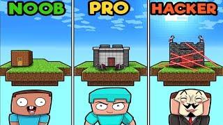 Minecraft - SECURE FLOATING BASE! (NOOB vs PRO vs HACKER)