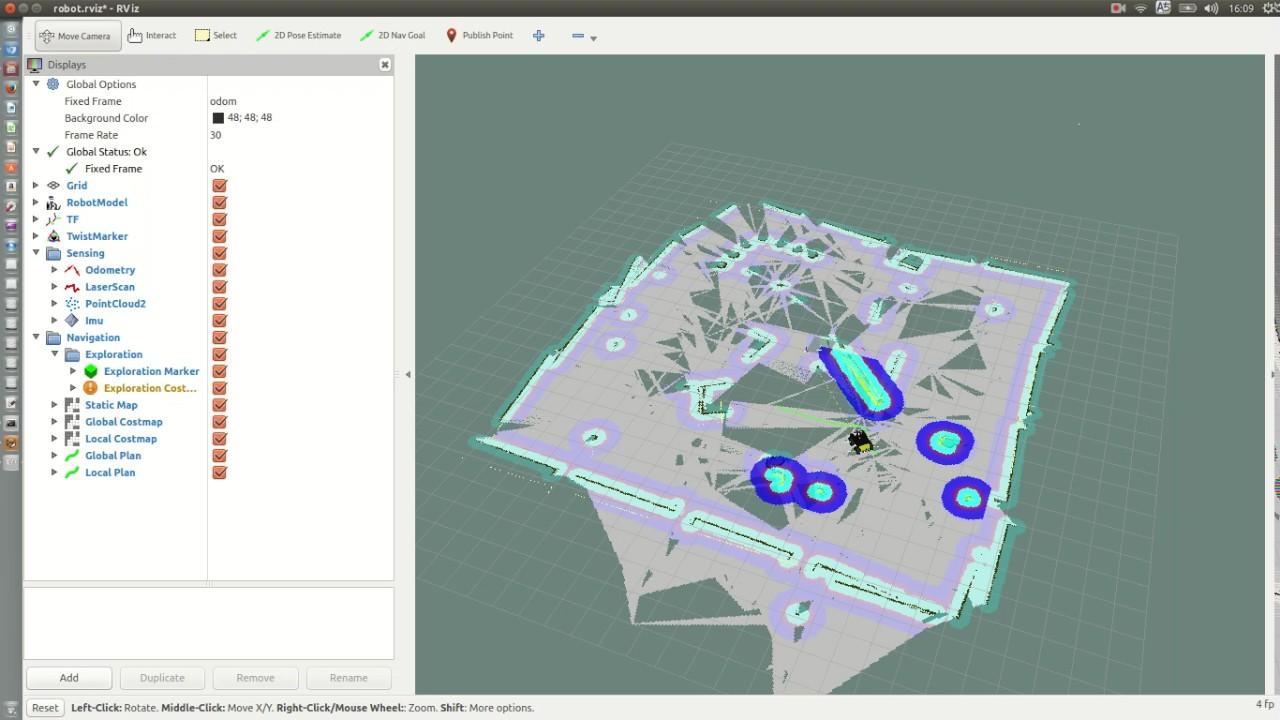 ROS gmapping で遊んでみる
