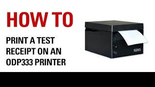 Knowing how to print a test receipt from your odp333 printer can help in ensuring that it is working correctly after changing roll or troubleshooti...