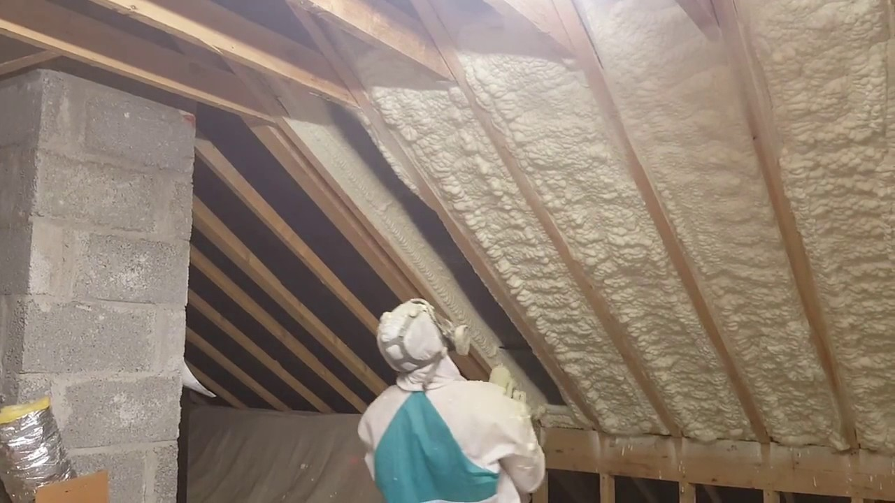 Attic Insulation Picture Framing Spray Foam Insulation