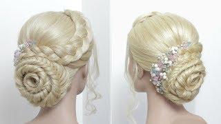 Flower Bun. Beautiful Juda Hairstyle For Long Hair