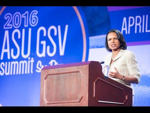 ASU GSV Summit: Keynote Interview with Dr. Condoleezza Rice