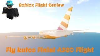 Vuelo Fly Kutos Final A380 (Revisión de vuelo de Roblox)
