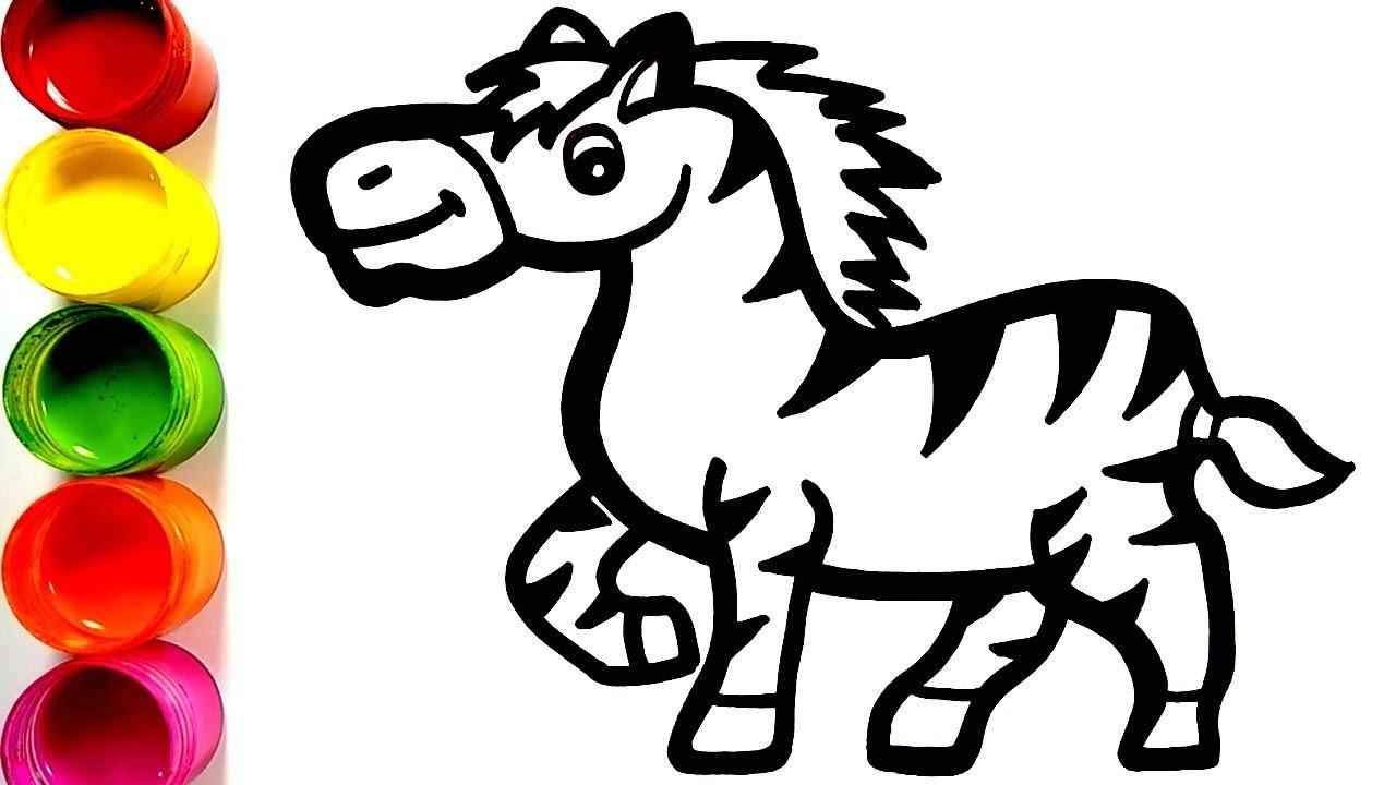 Belajar Menggambar Kuda Zebra Menggambar Dan Mewarnai