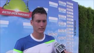 David Poljak po prohře ve čtvrtfinále deblu na turnaji Futures v Pardubicích