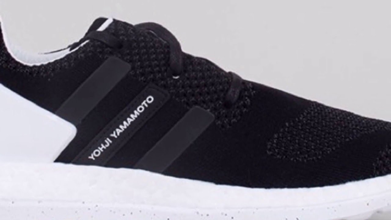 3e59d0a20 ADIDAS Y-3 PURE BOOST ZG KNIT (CORE BLACK WHITE) SNEAKERS NEWS - YouTube