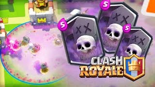 new deck graveyard spell with golem and minions clash royale
