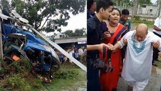Helicopter crash in Rajshahi | Faridur Reza Sagar, Ferdousi Ara survives helicopter crash