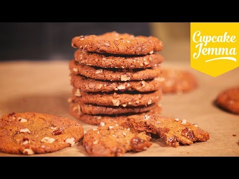 Soft Chewy Chocolate And Pecan Cookies   Cupcake Jemma
