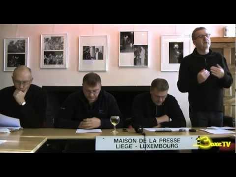 Conférence de presse  Gala Championnat d'Europe  Stéphane Jamoye / Lee Haskin