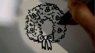 How to Draw a Cartoon Wreath