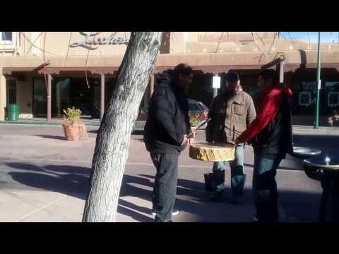 Santa Fe New Mexico - Impromptu Drumming in the Plaza