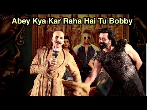 Hilarious Comedy By Akshay Kumar With Bobby Deol   Housefull 4 Official Trailer Launch Mp3