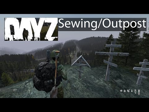 DayZ Xbox One Gameplay Sewing Kit Usage Guide & Unknown Military Outpost