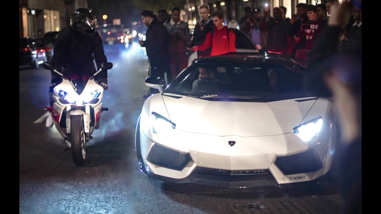Yamaha And Supercars Go Crazy In The City Youtube