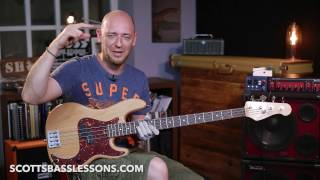 Jazz Style Sweeping Lick For Bass /// Scott's Bass Lessons