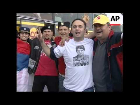 Fans in Serbia for away game amid fears of violence