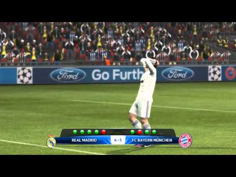 PES 2013 ดวลจุดโทษ Real Mardid VS Fc Bayern münchen  By Setthawoot