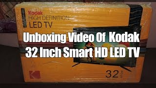 Unboxing Video Of Kodak 32 Inch HD Smart LED TV | Nellore Rockss |