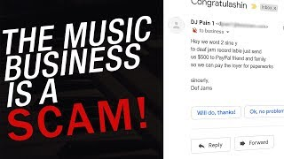 Warning: The Music Business is a Scam!  Blogs, Record Labels and More!