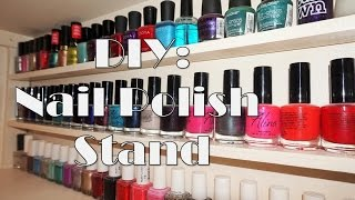 Diy Wooden Nail Polish Stand