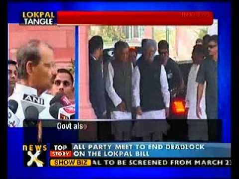 All-party meet on Lokpal today- NewsX