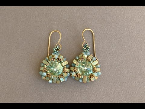 beading round bit cut beadedtreasury english nib beads product hole pattern rosette earrings beaded tutorial bead