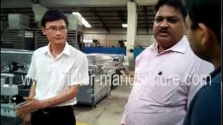 Indian Customers Visit Our Factory & Order Flat Bed Screen Printing Machine