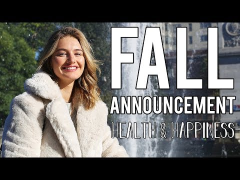 Fall Announcement - Wellness | Road To Health & Happiness | Sanne Vloet
