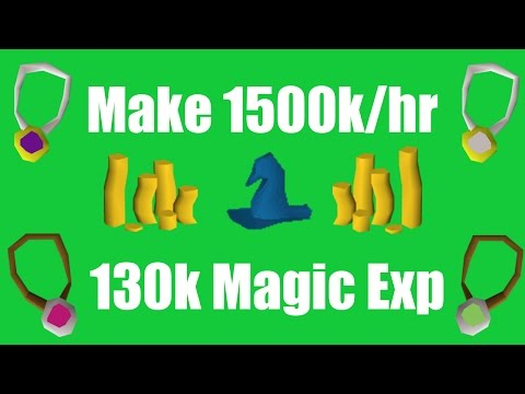 [OSRS] How to Make 1500k/hr While Training Magic! - Oldschool Runescape Money Making Method!