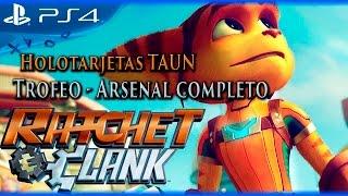 Ratchet & Clank - Guía de Holotarjetas TAUN - Trofeo Arsenal completo