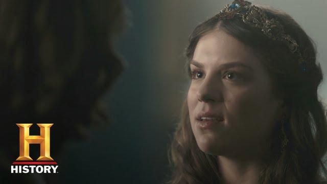 vikings gisla confronts rollo sneak peek season 4 episode 4