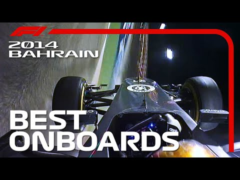 Duelling In The Dark! Best Onboards | 2014 Bahrain Grand Prix