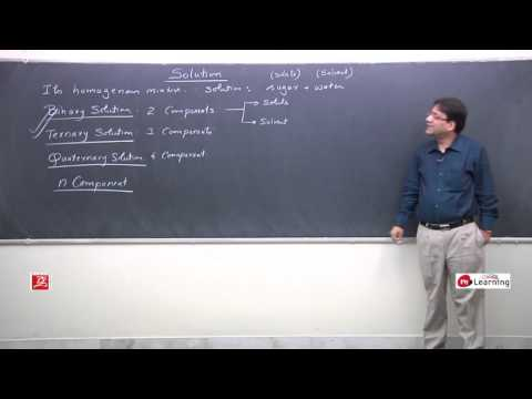 Introduction: solution and colligative properties 01/29