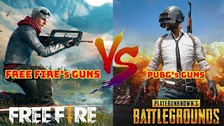 So sánh kho vũ khí của Free fire với PUBG Phần 1 -Free fire's gun vs Pubg's guns EP.1