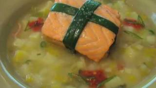 Valentine's Salmon - Belly-wrapped Salmon, Potato, And Leeks
