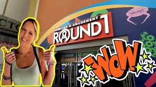 Round 1 Arcade UFO Catcher Claw Machines! Funny FAIL and a Ton of Plush Wins! Family Fun TeamCC