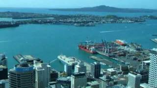 View over Auckland from the Sky Tower observation deck, New Zealand (part 2)