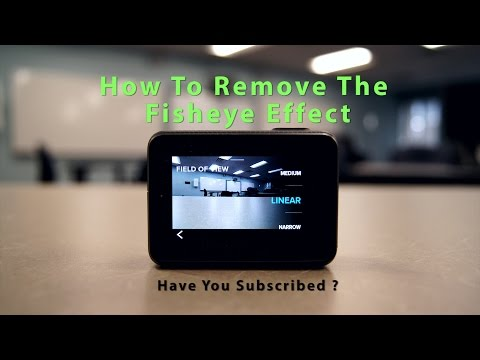 GoPro HERO5 How To Remove The Fisheye Effect