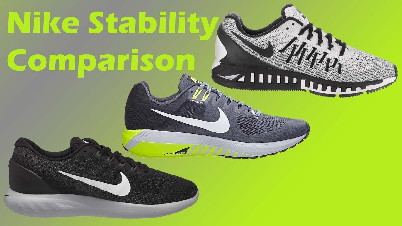 Chaqueta Abolladura tierra  Nike Stability Shoes Compared - YouTube
