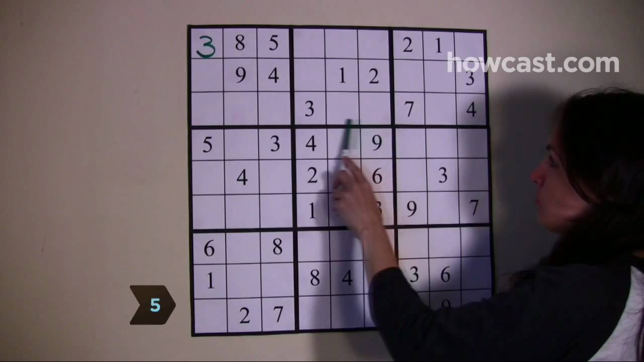 How To Solve A Sudoku Game Youtube