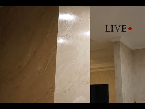 Венецианская штукатурка - изготовление / Stucco Veneziano Valpaint Rococo 800 / Venetian plaster