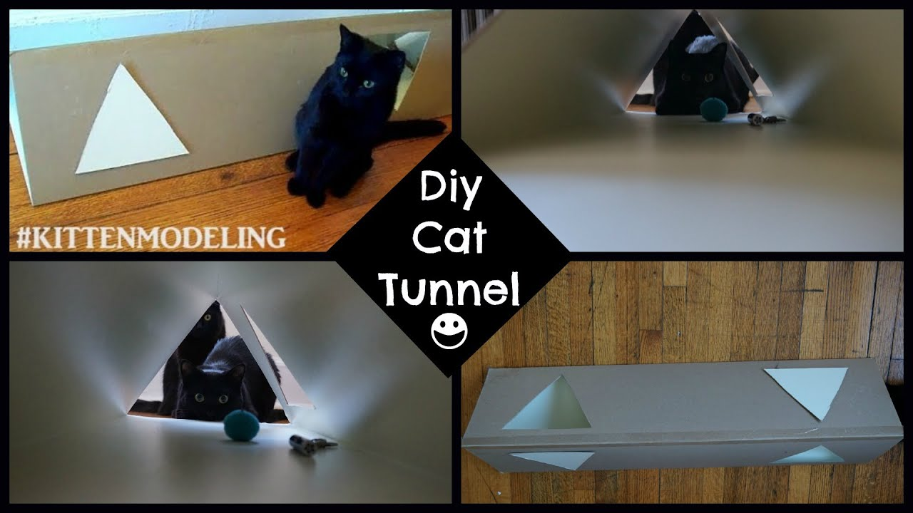 diy cat tunnel youtube. Black Bedroom Furniture Sets. Home Design Ideas