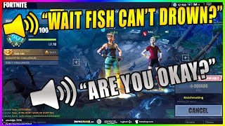 DAKOTAZ REALIZES THAT FISH CAN'T DROWN! - Fortnite Funny & Fail moments #259