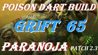 Diablo 3 Grift 65 Witch Doctor poison dart build patch 2.3