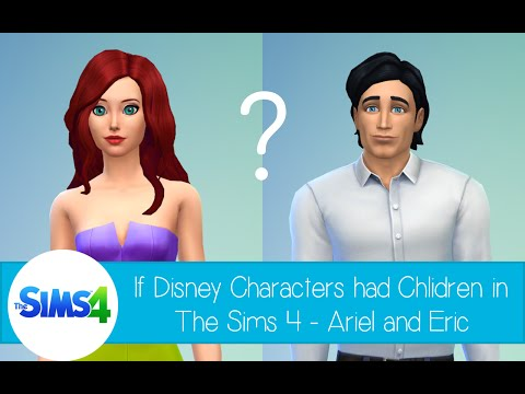 If Disney Characters Had Children In The Sims 4: Ariel & Eric from The Little Mermaid