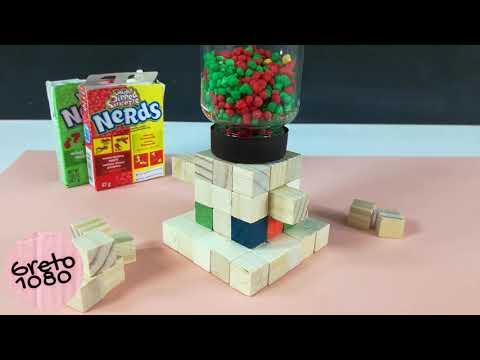 DIY Madera - dispensador de dulces