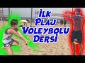 Aslı' nın İlk Plaj Voleybol Dersi | Bizim Aile Eğlenceli Çocuk Videoları